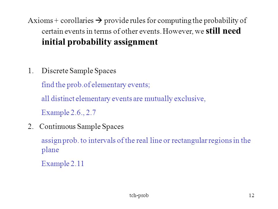 Discrete Sample Spaces find the prob.of elementary events;