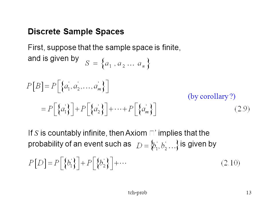 Discrete Sample Spaces