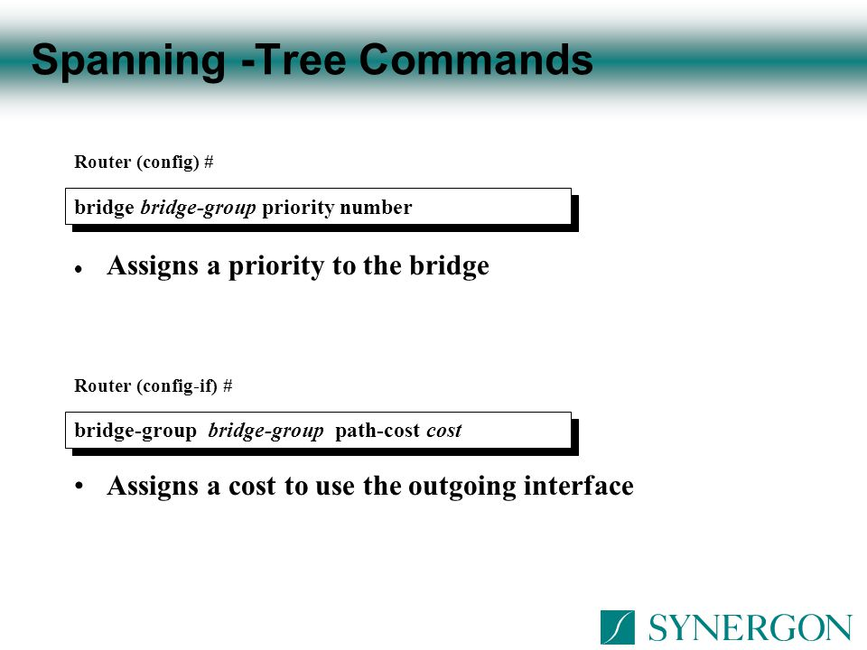 Spanning -Tree Commands
