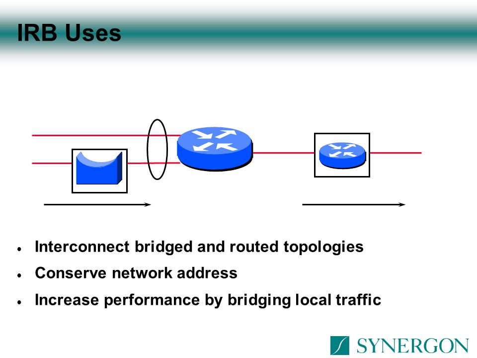 IRB Uses Interconnect bridged and routed topologies