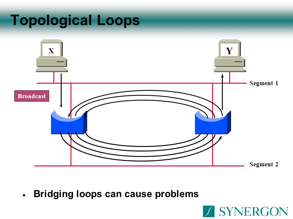 Topological Loops Y Bridging loops can cause problems X Segment 1