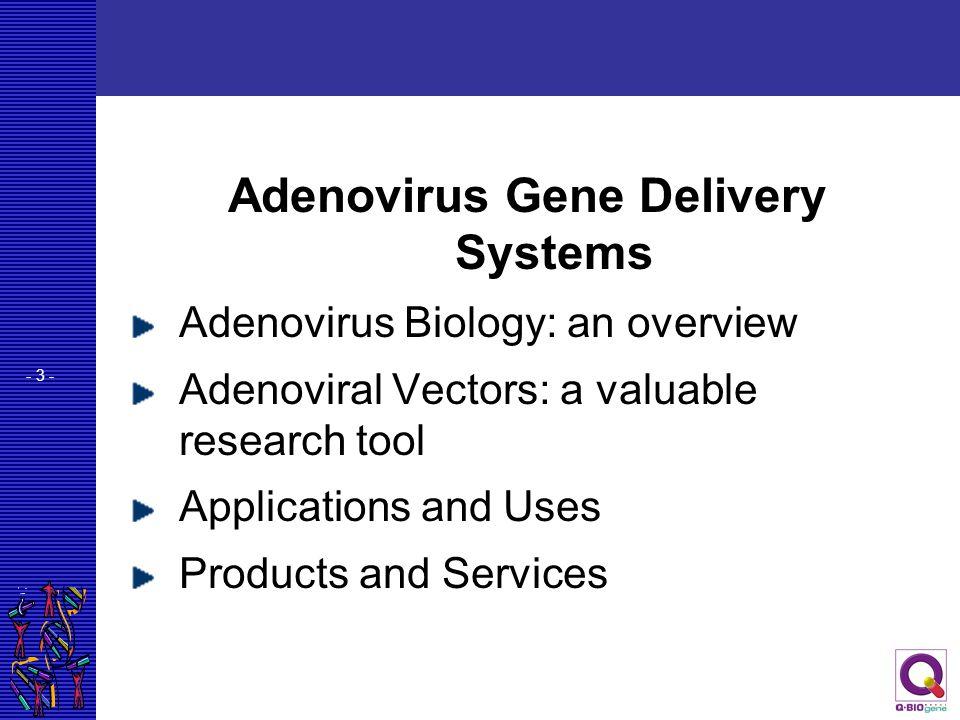 Adenovirus Gene Delivery Systems