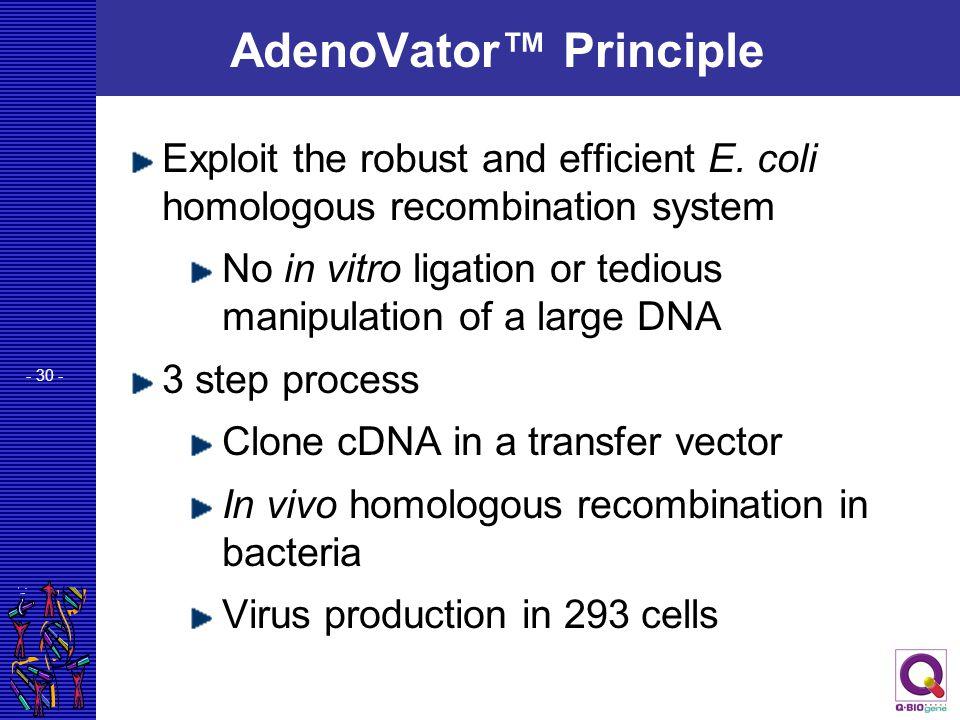 AdenoVator™ Principle