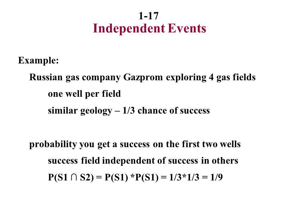 Independent Events Example: