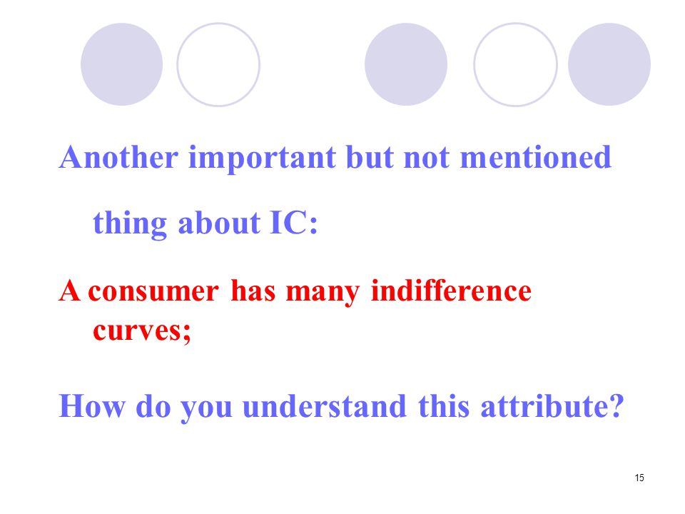 Another important but not mentioned thing about IC: