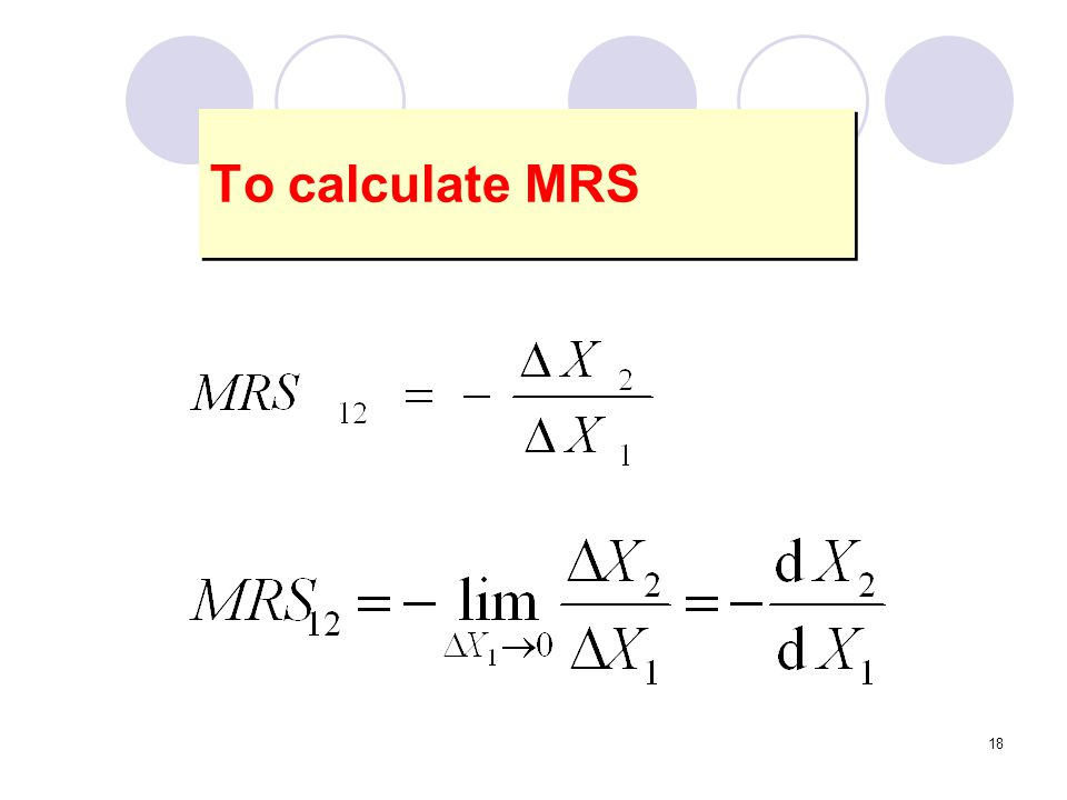 To calculate MRS