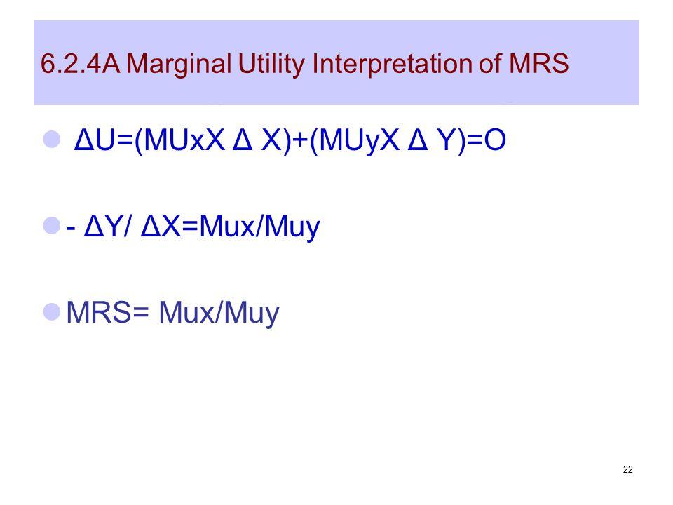 6.2.4A Marginal Utility Interpretation of MRS