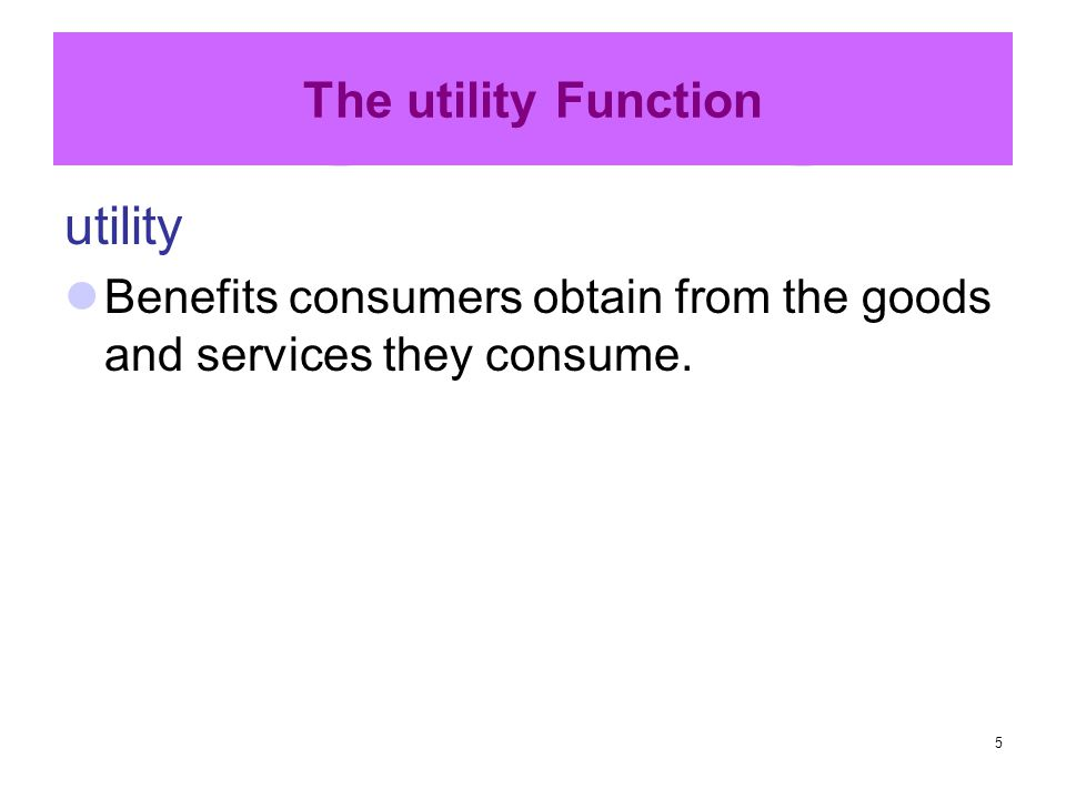 utility The utility Function