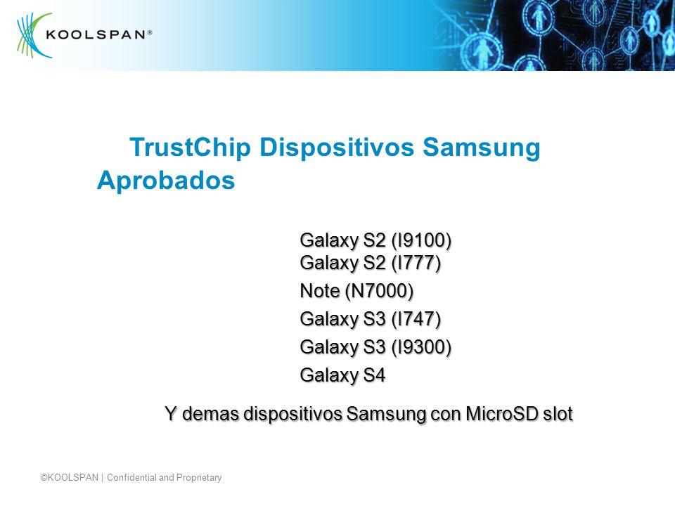 TrustChip Dispositivos Samsung Aprobados