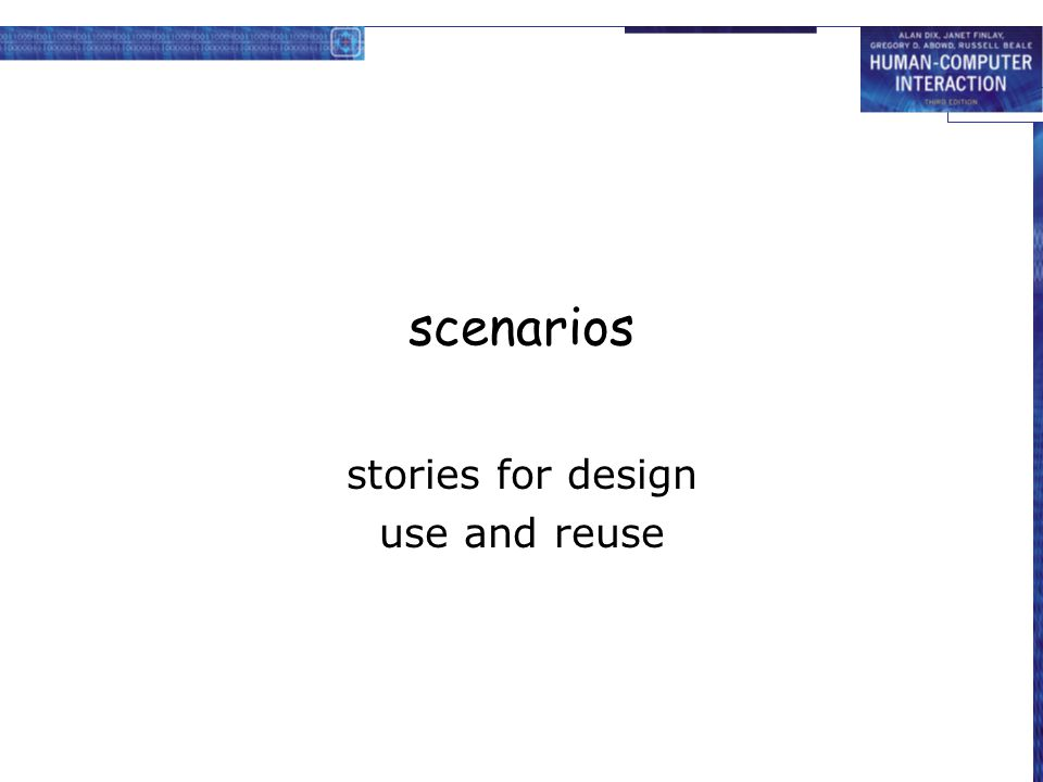 stories for design use and reuse
