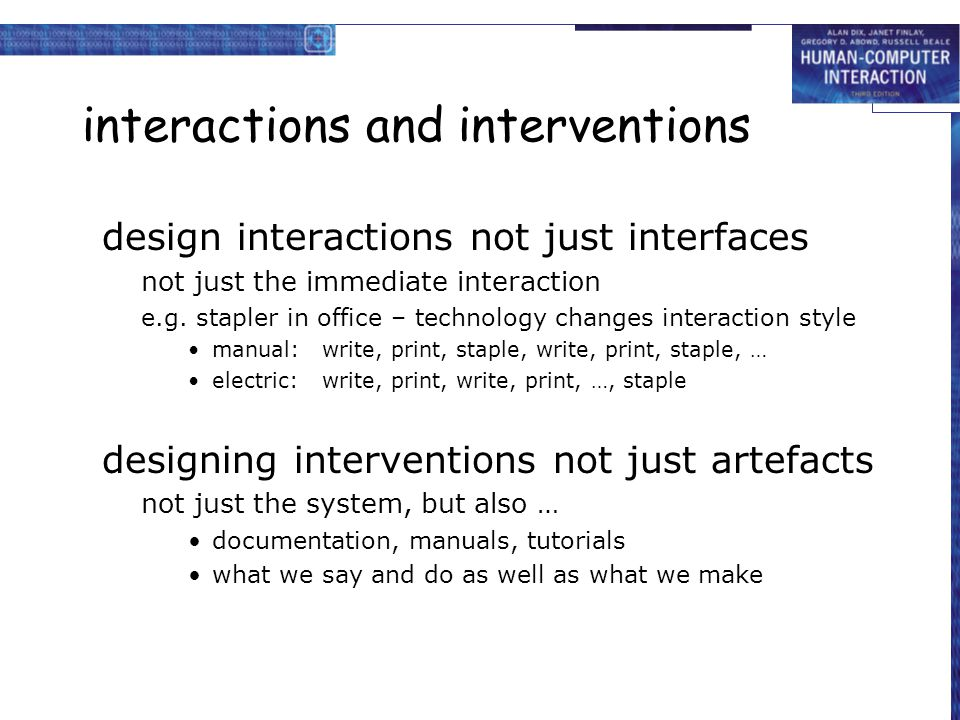 interactions and interventions