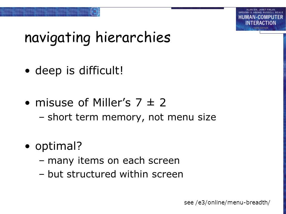 navigating hierarchies