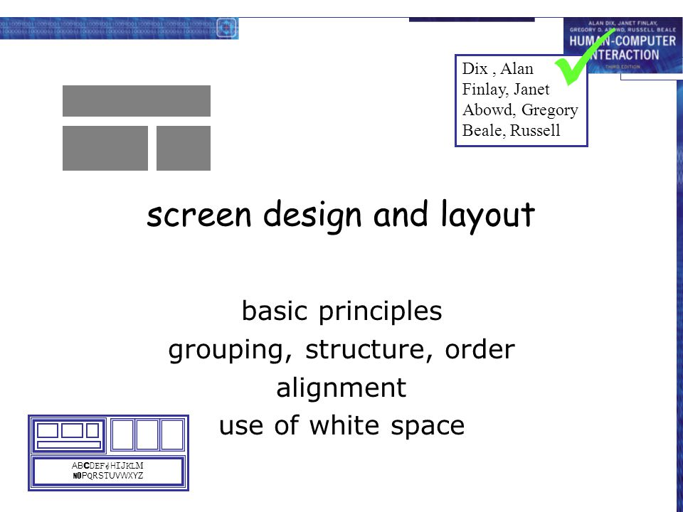 screen design and layout