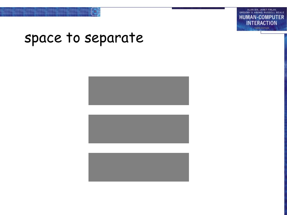 space to separate