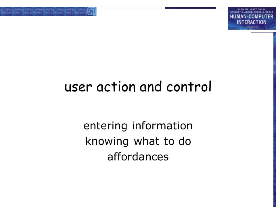 user action and control