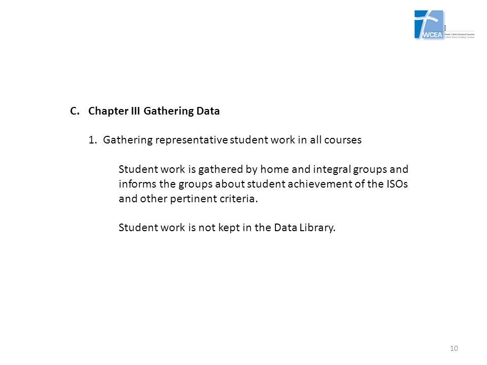 Chapter III Gathering Data