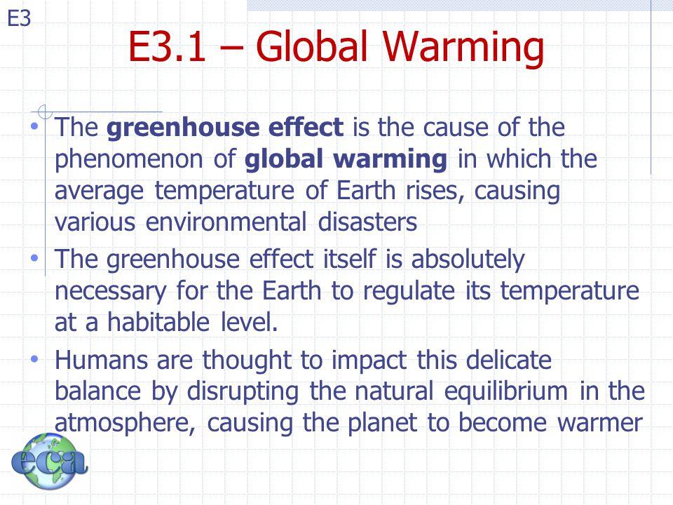 E3.1 – Global Warming