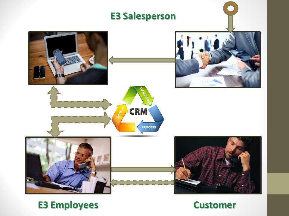 E3 Salesperson E3 Employees Customer