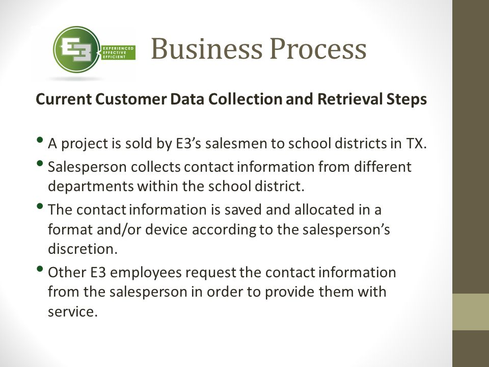 Current Customer Data Collection and Retrieval Steps
