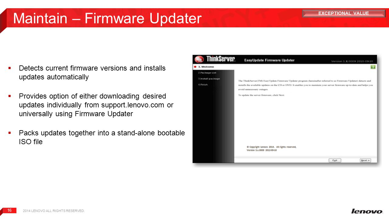 Maintain – Firmware Updater