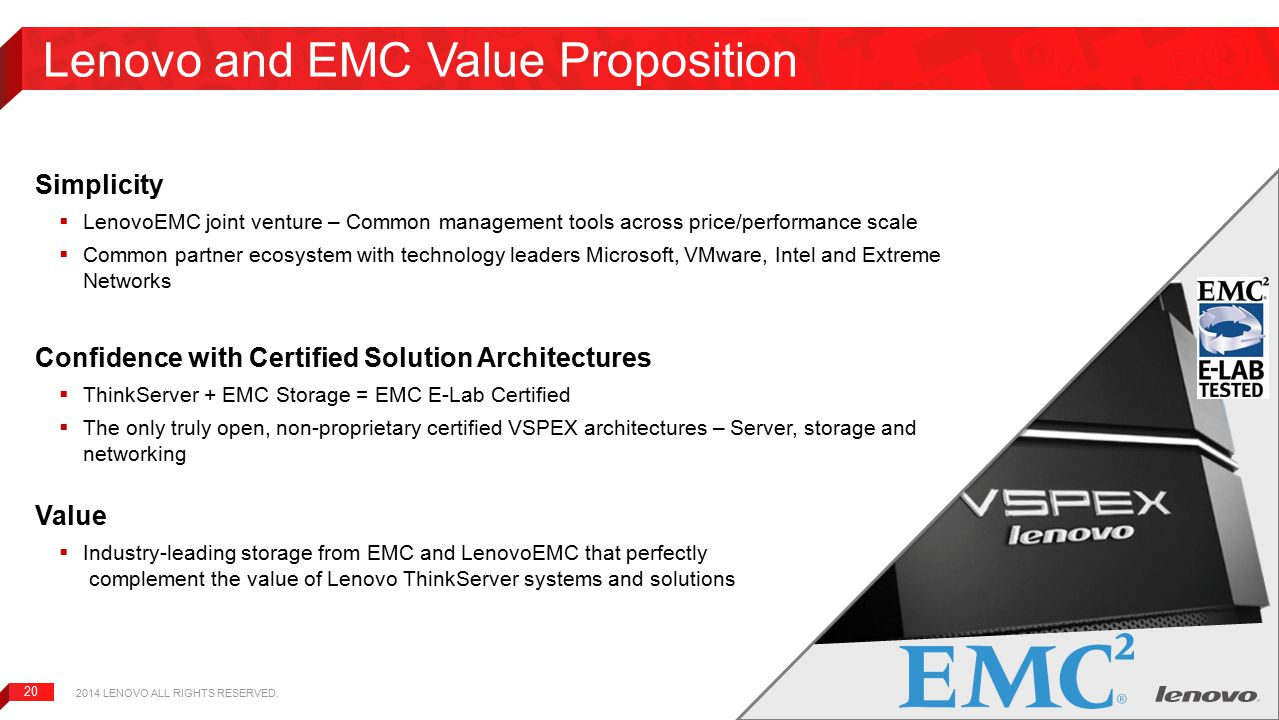 Lenovo and EMC Value Proposition