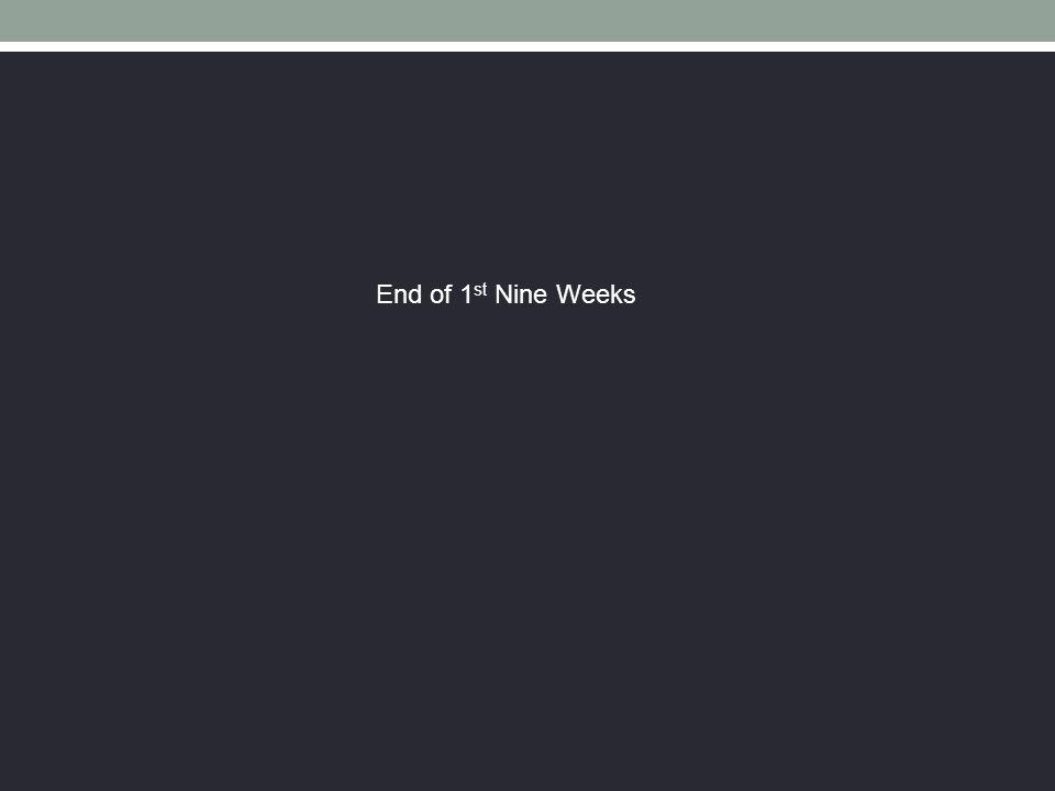 End of 1st Nine Weeks