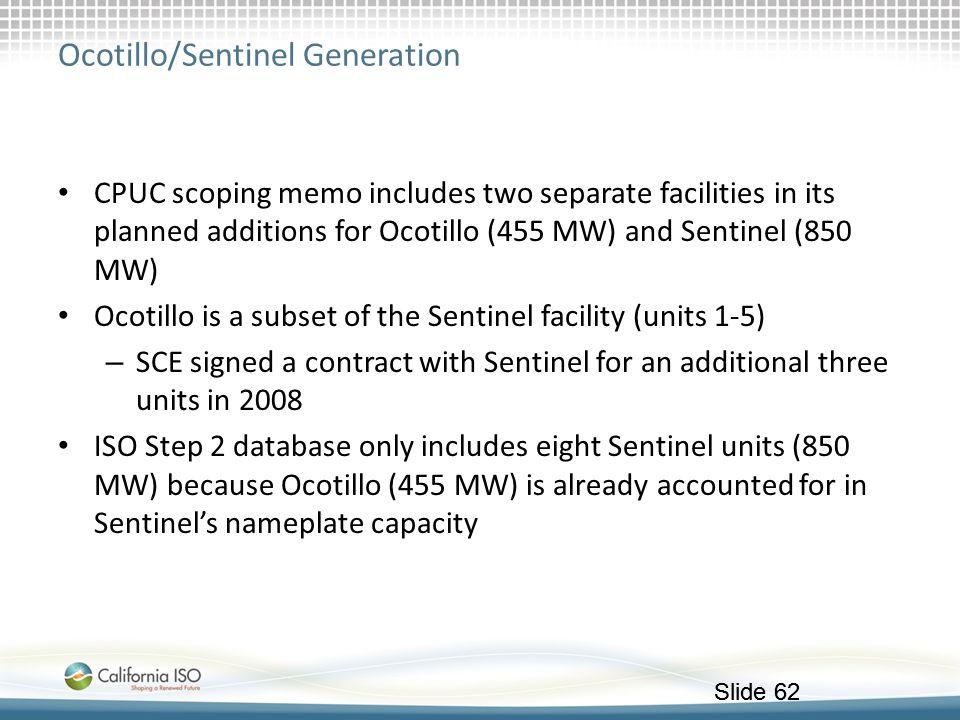 Ocotillo/Sentinel Generation
