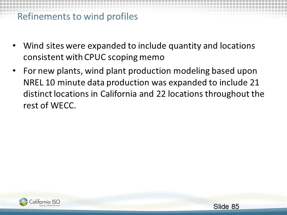 Refinements to wind profiles
