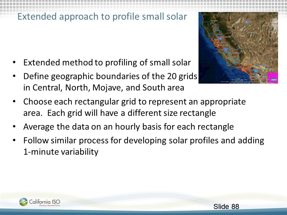 Extended approach to profile small solar