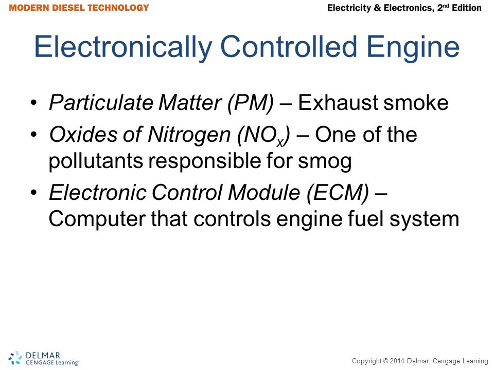 Electronically Controlled Engine