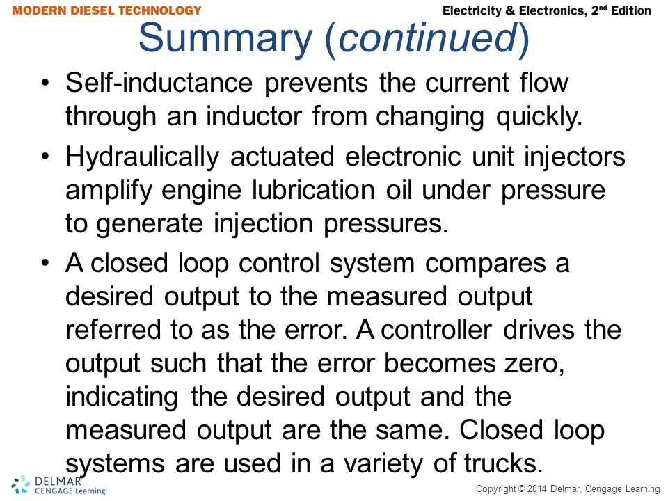 Summary (continued) Self-inductance prevents the current flow through an inductor from changing quickly.