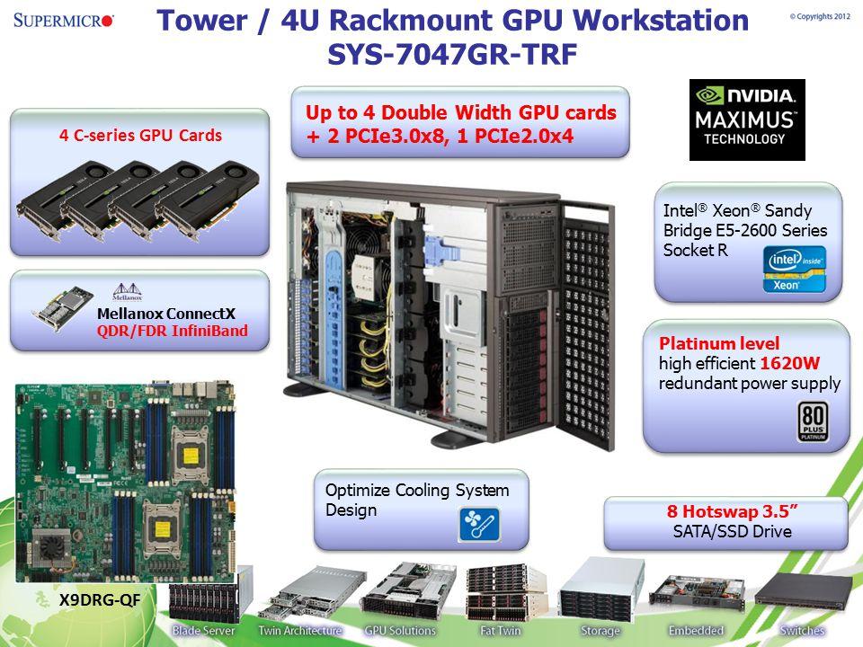 Tower / 4U Rackmount GPU Workstation SYS-7047GR-TRF