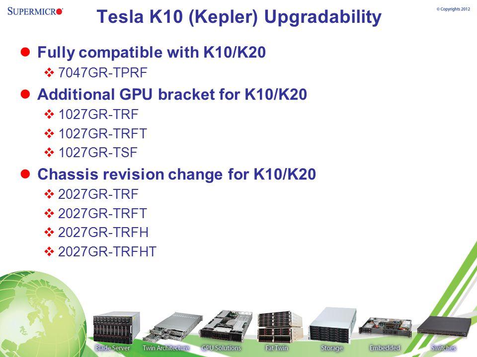 Tesla K10 (Kepler) Upgradability