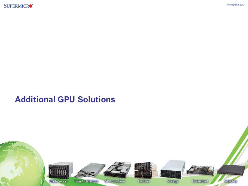 Additional GPU Solutions
