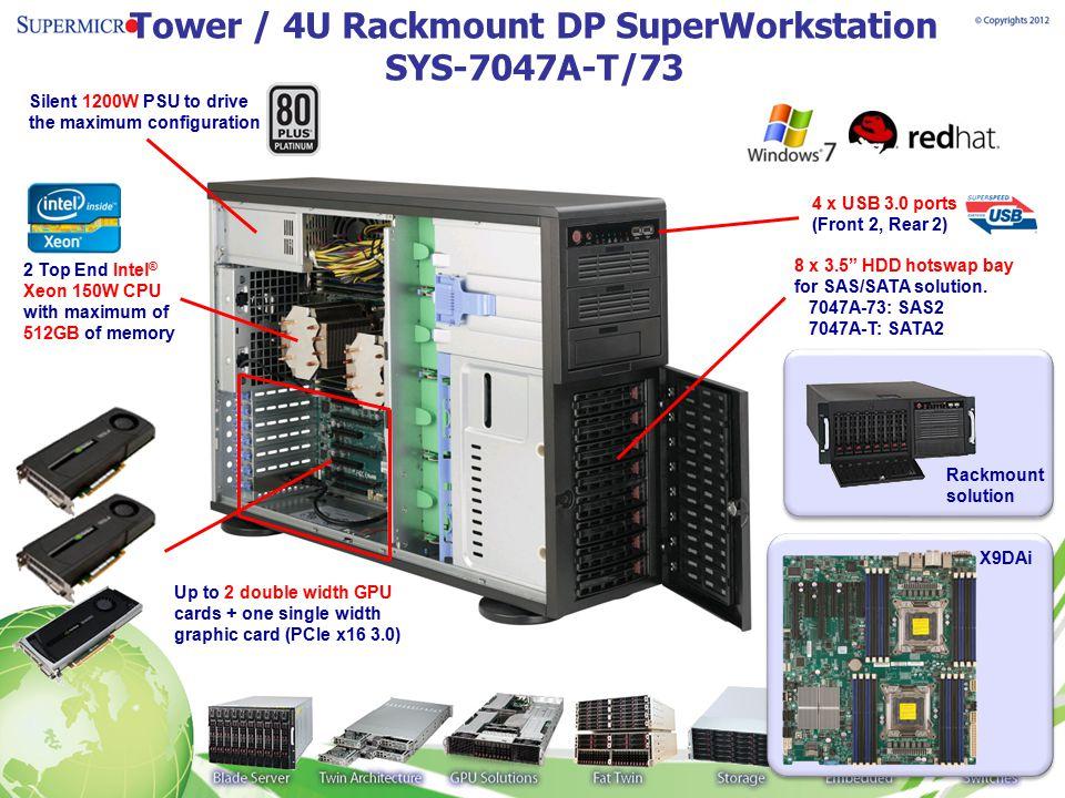 Tower / 4U Rackmount DP SuperWorkstation SYS-7047A-T/73