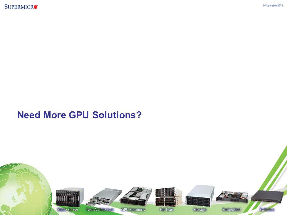 Need More GPU Solutions