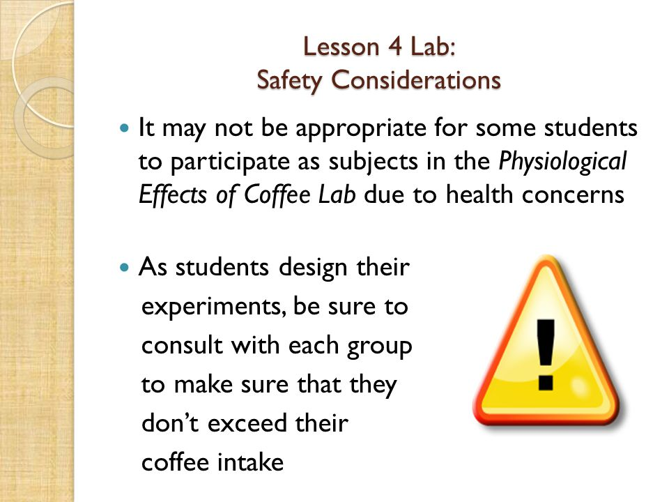 Lesson 4 Lab: Safety Considerations