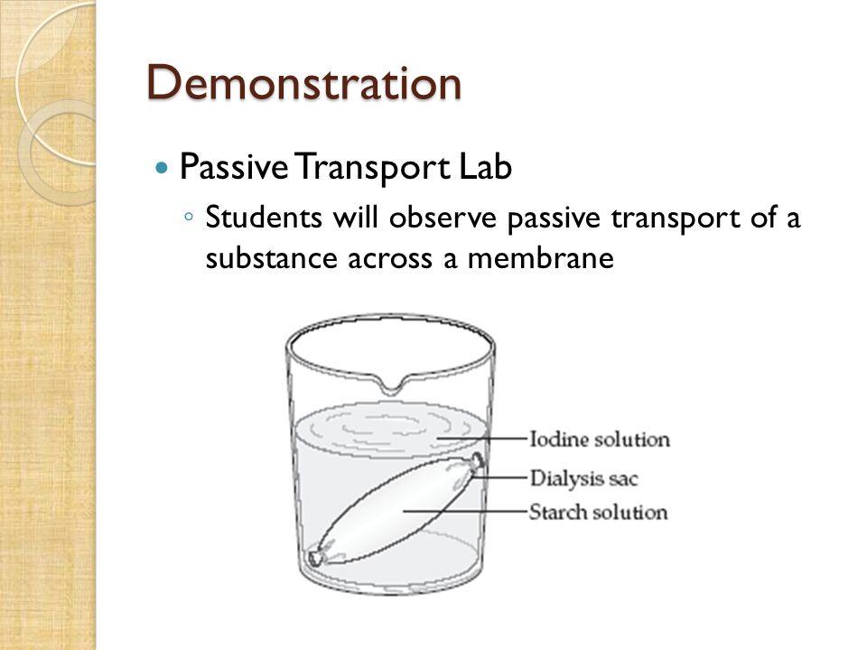 Demonstration Passive Transport Lab