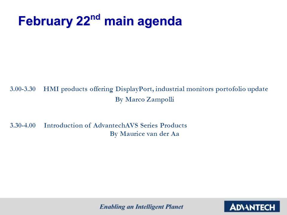February 22nd main agenda