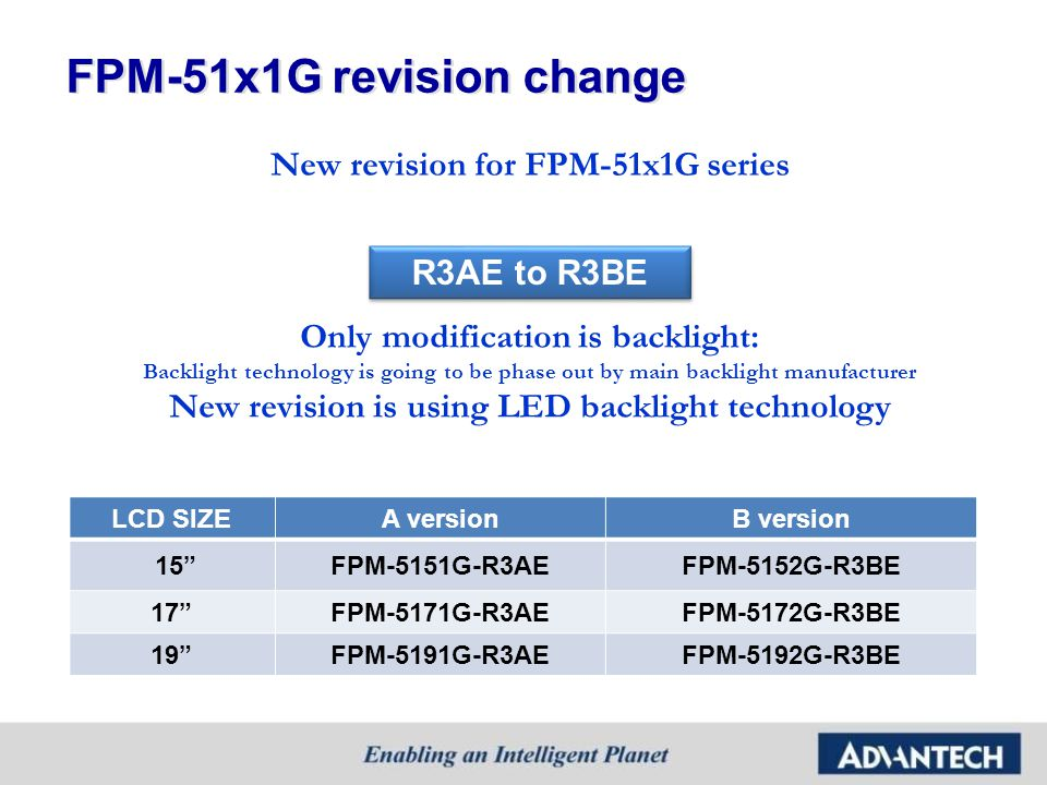 FPM-51x1G revision change
