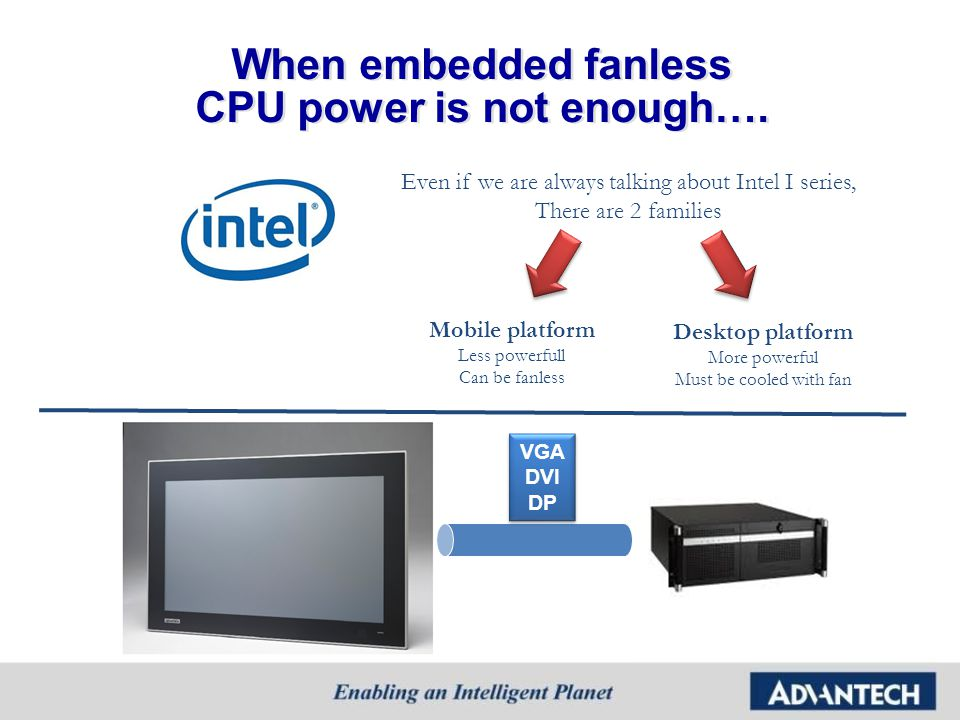 When embedded fanless CPU power is not enough….