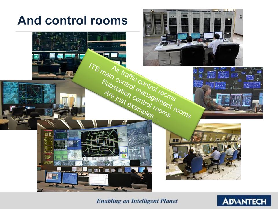 And control rooms ITS main control management rooms