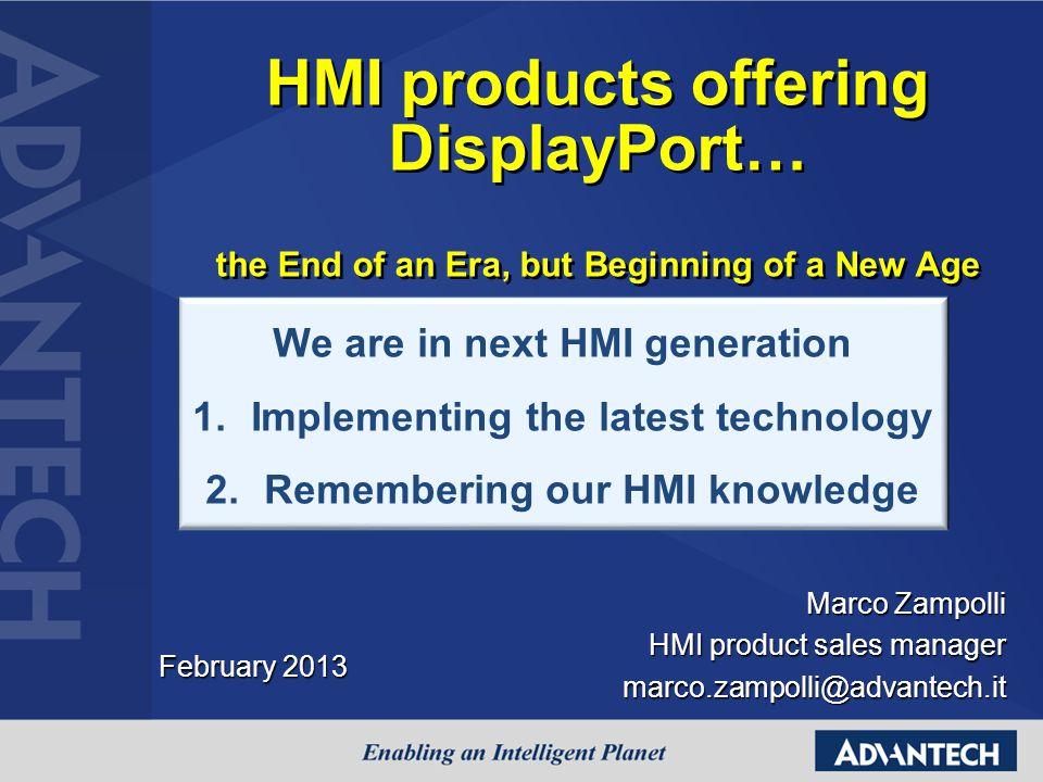 Marco Zampolli HMI product sales manager marco.zampolli@advantech.it