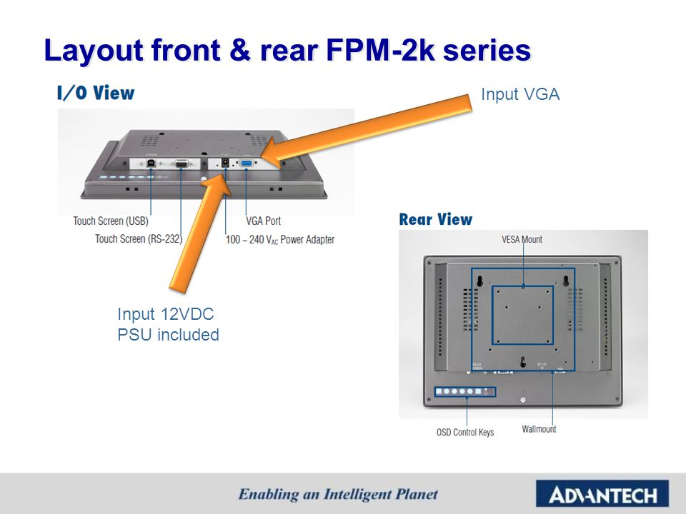 Layout front & rear FPM-2k series