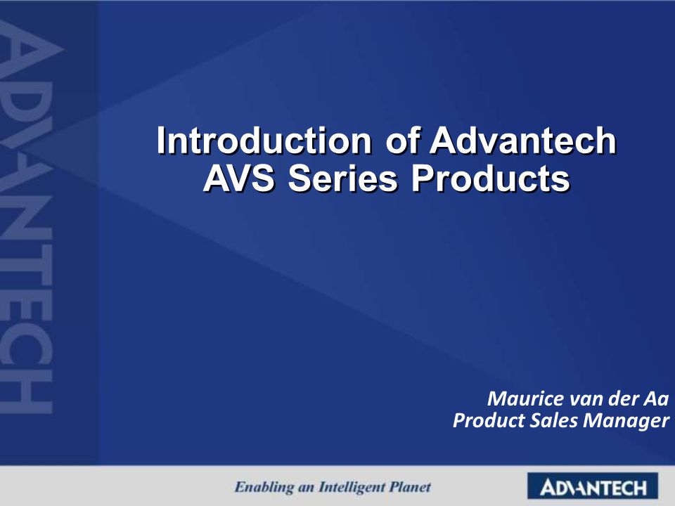 Maurice van der Aa Product Sales Manager