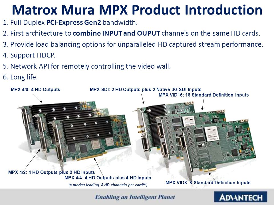 Matrox Mura MPX Product Introduction