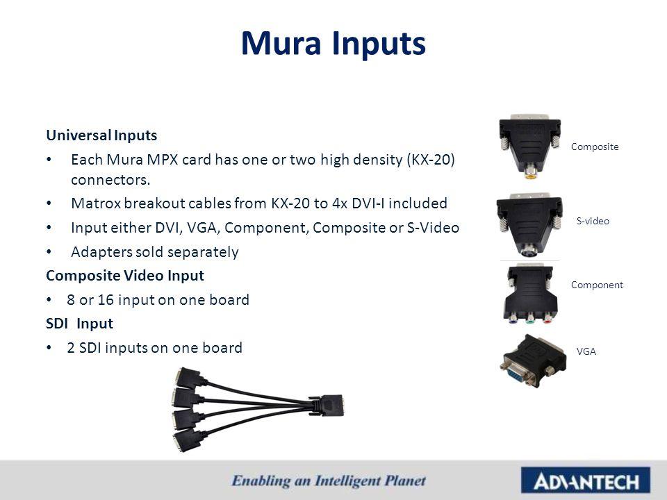 Mura Inputs Universal Inputs