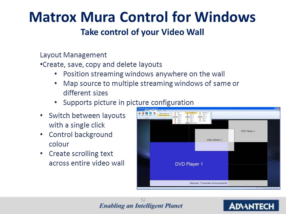 Matrox Mura Control for Windows Take control of your Video Wall