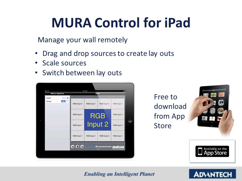 MURA Control for iPad Manage your wall remotely