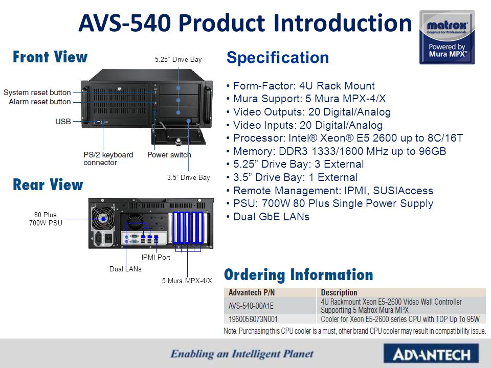 AVS-540 Product Introduction